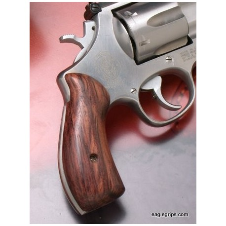 S&W Panel N Frame Round Butt Rosewood Grips