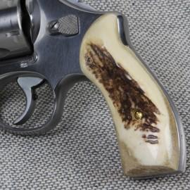 S&W K/L Frame Round Butt - AMERICAN ELK Revolver Grips