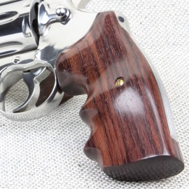 S&W N Frame Round Butt - GENUINE ROSEWOOD Finger Position Grips - SMOOTH