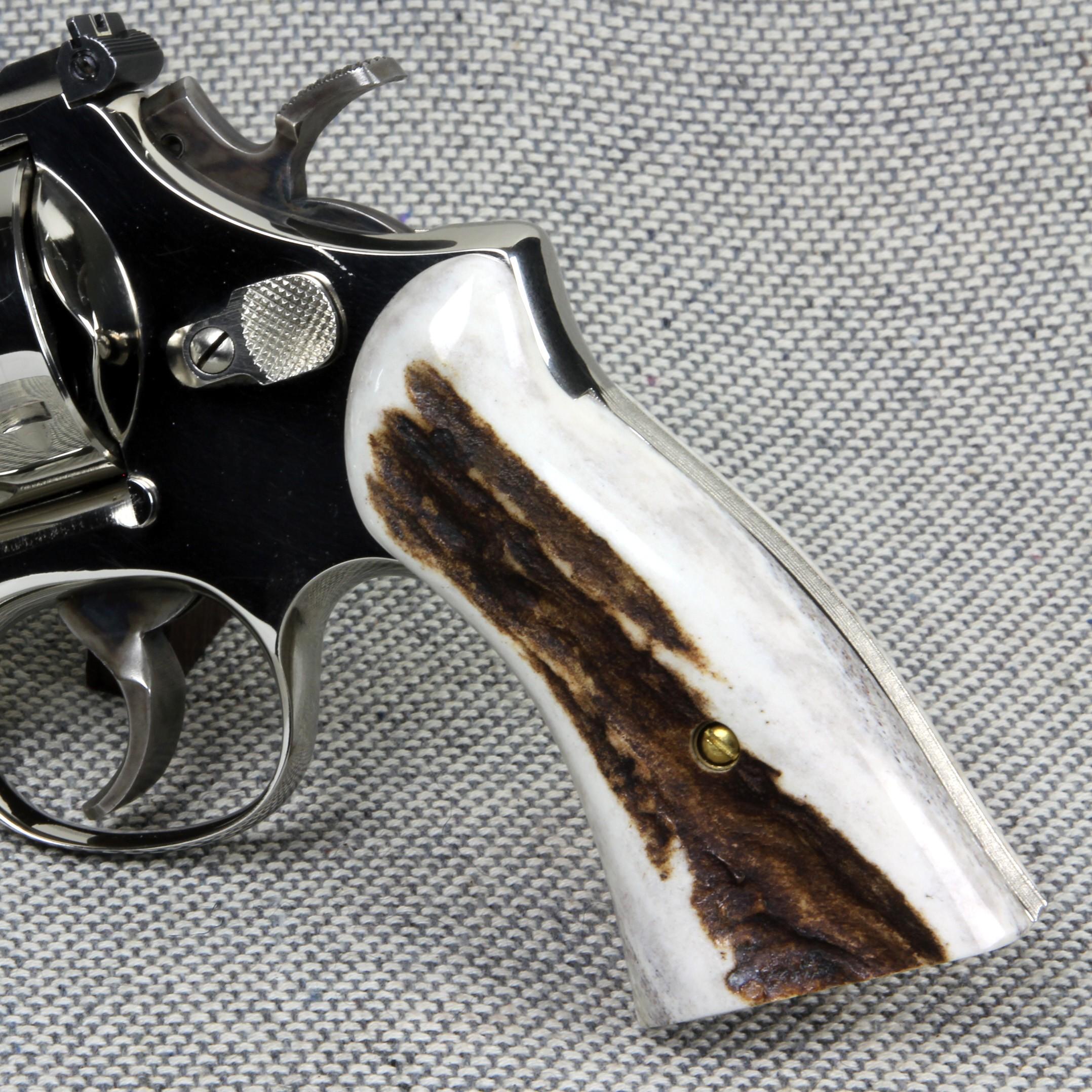 S&W N Frame Square Butt American Elk Revolver Grips