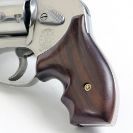 S&W J Frame Round Butt Rosewood Secret Service Grips Smooth