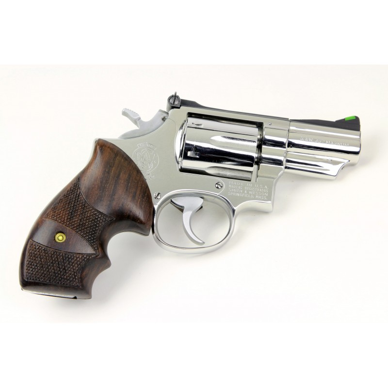 S&W N Frame Round Butt Rosewood CHECKERED Grips