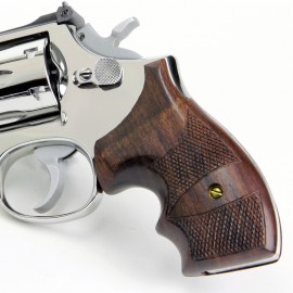 S&W N Frame Round Butt Rosewood Secret Service Grips Checkered