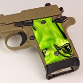 Sig Sauer P938 Kirinite® Toxic Green Grips