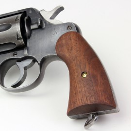 Colt New Service 1917 Walnut Panel Grips Smooth