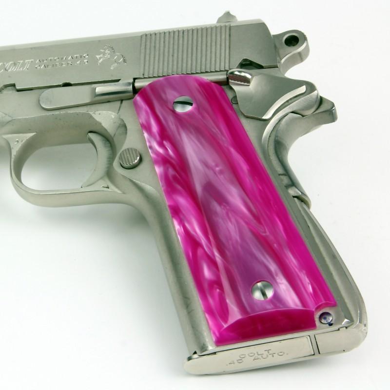 1911 kirinite� atomic pink pistol grips