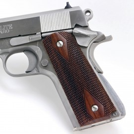 Colt 1911 Rosewood Grips Checkered