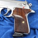 Walther PPK/S by Interarms - Checkered Rosewood Pistol Grips