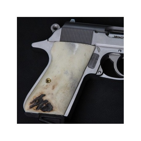 S&W Walther PPK/S by Smith & Wesson Sambar Stag Grips