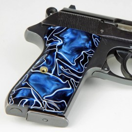 Walther PPK/S by Interarms Kirinite® Royal Blue Grips