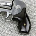 S&W J Frame Round Butt Black Polymer Secret Service Grips Smooth