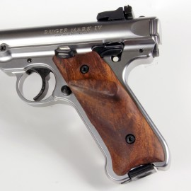 Ruger MKII Rosewood Thumbrest Grips Smooth