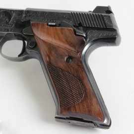 Colt Woodsman 2nd. Gen. Rosewood CHECKERED Thumb Rest Grips