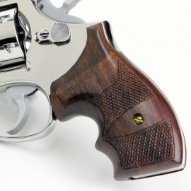 S&W K/L Frame Round Butt Secret Service Rosewood Checkered Grips