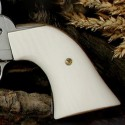 """Ruger """"Old"""" Vaquero Ultra IMITATION IVORY Panel Style Grips - SMOOTH"""