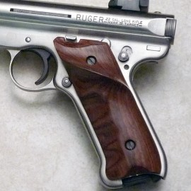 Ruger Mk III GENUINE ROSEWOOD Thumb Rest Grips - SMOOTH