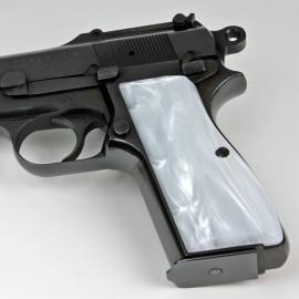 Browning Hi Power Kirinite® White Pearl Grips