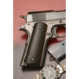 Colt 1911 Ebony Grips Smooth