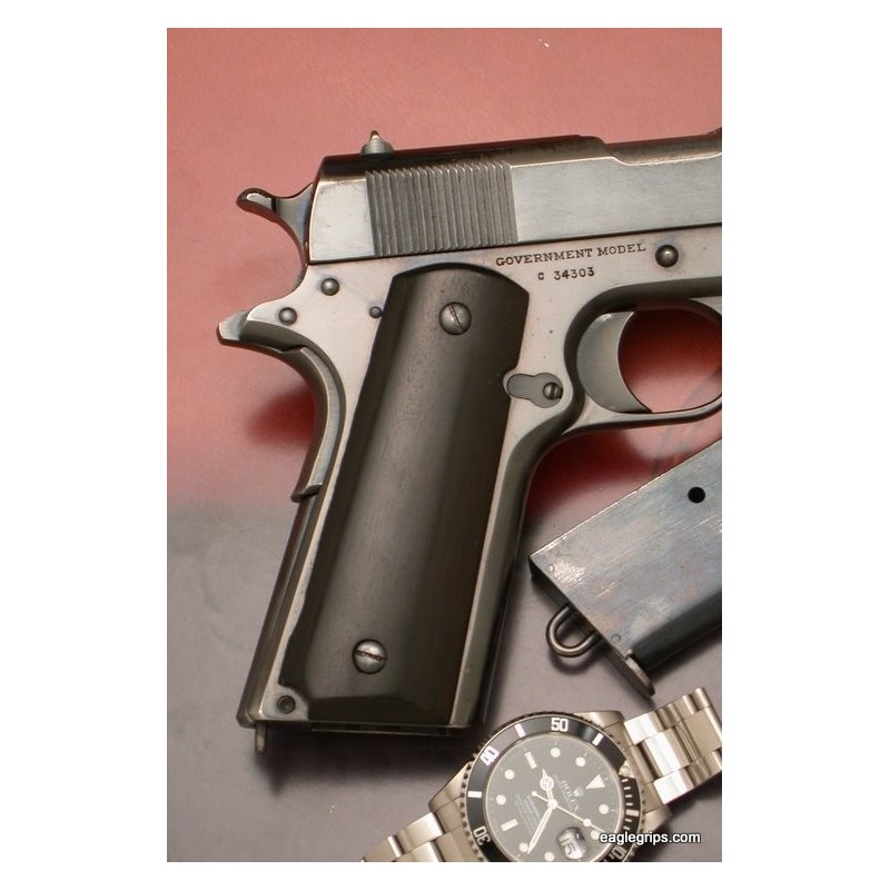 Colt 1911 Ebony Smooth Finish Grips