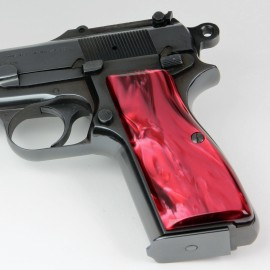 Browning Hi Power Kirinite® Red Pearl Grips