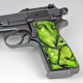 Browning Hi Power Kirinite® Toxic Green Grips