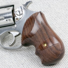 Ruger SP101 - GENUINE ROSEWOOD Secret Service Grips - CHECKERED