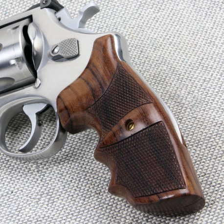 Smith And Wesson K/L Frame Round Butt Frame Combat Revolver Grips Checkered