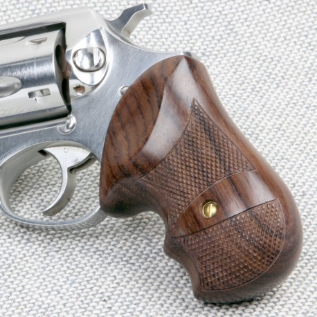 Rosewood Secret Service Grips for the Ruger GP100 & Super Redhawk Checkered