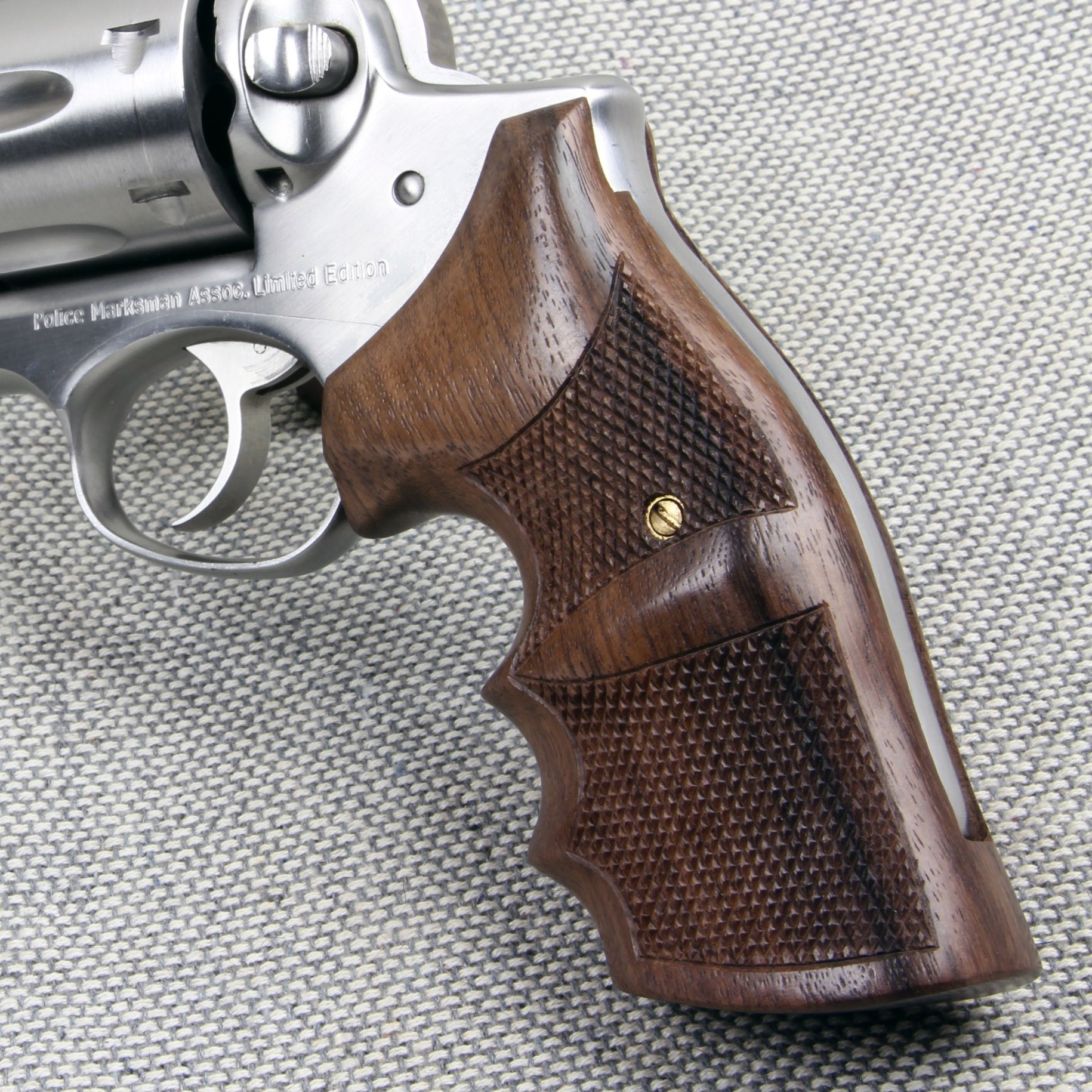 Ruger Redhawk Square Butt GENUINE ROSEWOOD Finger Position Grips - CHECKERED