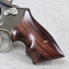 S&W K/L Frame Square Butt - GENUINE ROSEWOOD Secret Service Grips - SMOOTH