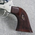 "Ruger ""Baby Vaquero"" .32 H&R - GENUINE ROSEWOOD Gunfighter Grips - CHECKERED"