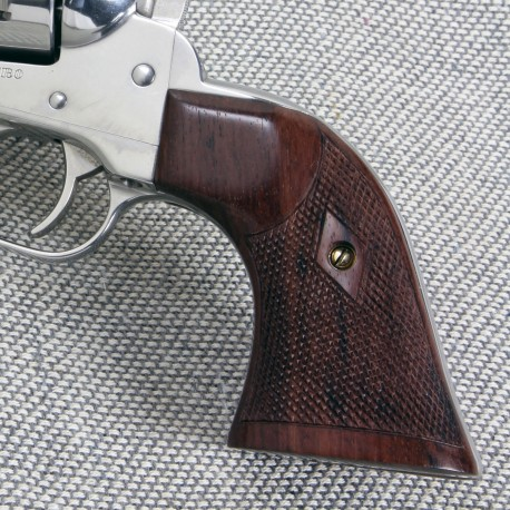 Ruger Vaquero Rosewood Gunfighter Grips Checkered