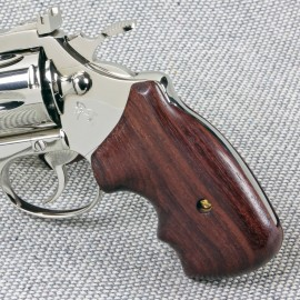 Colt Post '66 Detective Special and Cobra Secret Service Rosewood Grips Smooth