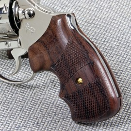 Colt Post '66 Detective Special and Cobra Secret Service Rosewood Checkered Grips