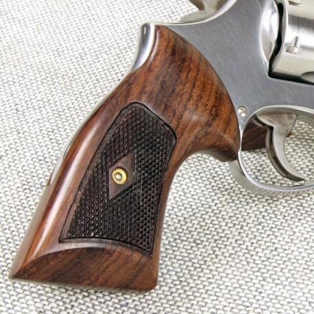 S Amp W N Frame Round Butt Rosewood Heritage Compact Grips