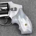 S&W J Frame Round Butt - Imitation White Pearl Secret Service Grips