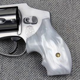 Ultra Pearl Secret Service S&W J Frame Round Butt Grips
