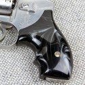S&W J Frame Round Butt Kirinite® Black Pearl Secret Service Grips Smooth