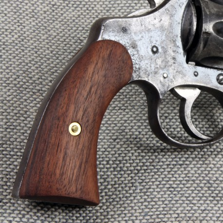 Police Positive Walnut Double Action Revolver Grips