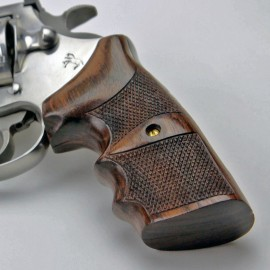 Colt Anaconda & King Cobra - Rosewood FINGER POSITION Grips - CHECKERED