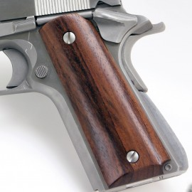 Compact 1911 (Officers model) - Rosewood Panel Grips - SMOOTH