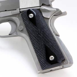 Colt 1911 Ebony Grips Checkered