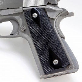 Black Polymer Grips (Checkered) for the 1911