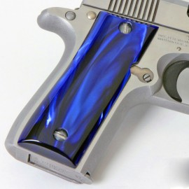 Colt .380 Government and Mustang Plus II Kirinite® Blue Pearl Grips