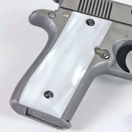 Colt .380 Government and Mustang Plus II White Pearl