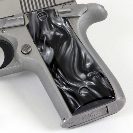 Colt .380 Government and Mustang Plus II BLACK Pearl