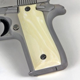 Colt .380 Government and Mustang Plus II Ultra Imitation Ivory