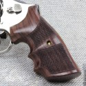 S&W K/L Frame Round Butt Rosewood Finger Position Checkered