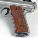 Ruger Mark III GENUINE WALNUT Panel Grips - Pronounced Thumbrest SMOOTH