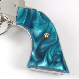 """Ruger """"Old"""" Vaquero Kirinite® Aqua Marine Gunfighter Grips"""